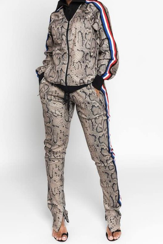 One Reason Only Snakeskin 2 Piece Tracksuit