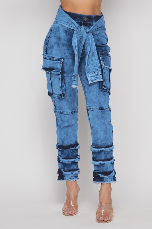Thank Me Later Tie Waist Jeans