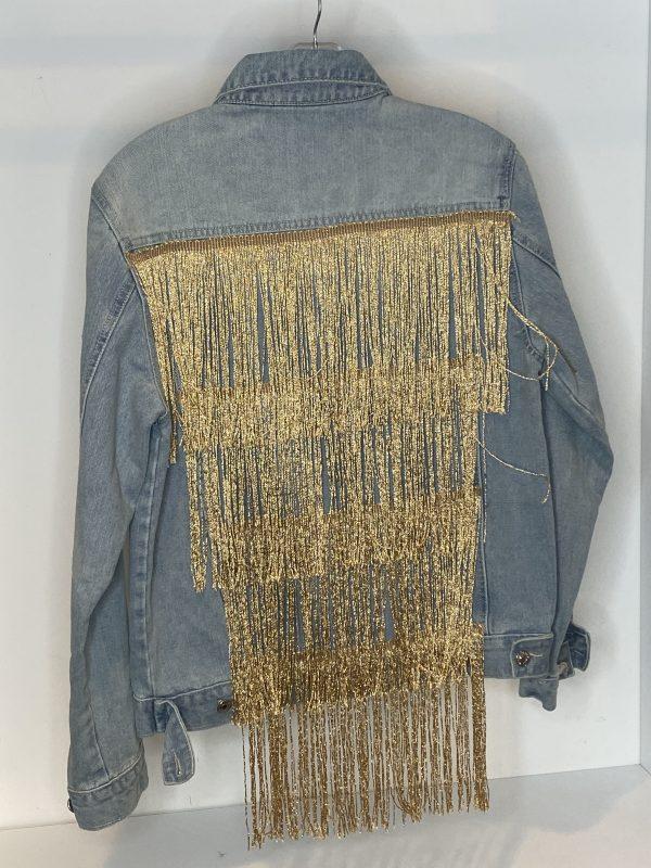 HUSH Original Denim Jacket – Golden Fringes