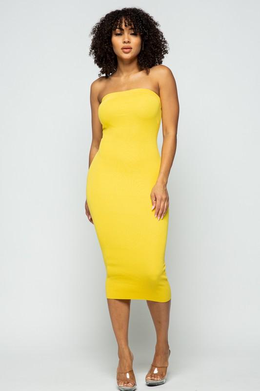 Strapless Tube Dress - Hush Boutique
